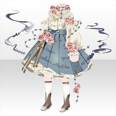 Anime Inspired Outfits, Anime Outfits, Hair Sketch, Drawing Anime Clothes, Arte Obscura, Creative Background, Anime Dress, Cocoppa Play, Fantasy Dress