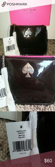 Kate Spade glitter bug pouch Comes with box and tags. kate spade Bags Wallets