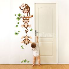 Wall Painting Living Room, Wall Painting Decor, Diy Wall Art, Creative Wall Painting, Creative Walls, Bedroom Wall Designs, Wall Art Designs, Nursery Wall Decals, Wall Sticker