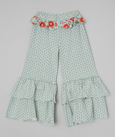 Love this Spa Blue Chevron Bella Pants - Infant, Toddler & Girls on #zulily! #zulilyfinds
