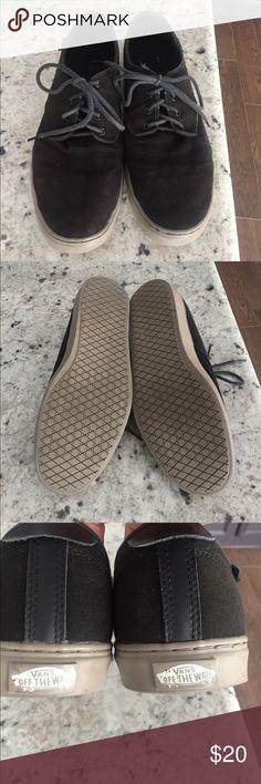 Mens Vans tennis shoes Men's vans tennis shoes size 11 1/2 black. Make me an offer! Vans Shoes Boat Shoes