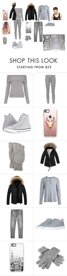 """Snow day"" by fandomimagines22 on Polyvore featuring New Look, Mother, Converse, Casetify, Neiman Marcus, Hollister Co., Vince, Diesel, Android Homme and Black"