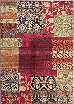 Safavieh Monaco Collection MNC211F Colorful Patchwork Multi Area Rug  (6'…