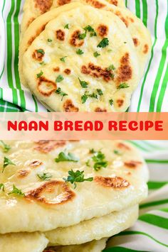NAAN BREAD RECIPE - Viral food Homemade Naan Bread, Recipes With Naan Bread, Best Bread Recipe, Vegetarian Recipes Easy, Indian Food Recipes, Cooking Recipes, Healthy Recipes, Healthy Food, Healthy Eating