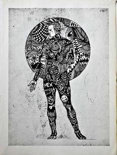 Título: Bilis Negra Autor: Christian Becerra Técnica: Tinta sobre papel