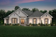 Country, French Country, One-Story, Traditional House Plan 56709 with 3 Beds, 2 … - Home & DIY French Country Exterior, French Country House Plans, Country French, Southern Living House Plans, French Cottage, Country Style, House Plans One Story, One Story Homes, Story House