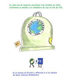Meriendas verdes y humor gráfico para difundir los valores del reciclaje de envases de vidrio | EFE Verde