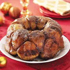 Maple Bubble Bread! YUM! With a scrumptious topping of maple syrup and brown sugar, it's the perfect start to a special day.