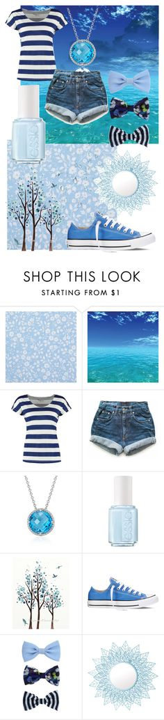 """""""True blue"""" by madelynnlove ❤ liked on Polyvore featuring PiP Studio, TWINTIP, Levi's, Blue Nile, Essie, WALL, Converse and Pols Potten"""