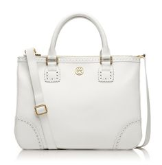 Named for Tory Burch's parents — Buddy and Reva Robinson — the Robinson Spectator double zip tote is a modern classic.