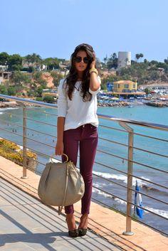 #fashion #fashionista Silvia bianco prugna 1SILLAPARAMIBOLSO: OhmyGod! & 4del12
