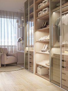 Room Design Bedroom, Home Room Design, Home Decor Bedroom, Home Interior Design, Room Decor, Bedroom Built In Wardrobe, Wardrobe Room, Closet Bedroom, Walk In Closet Design
