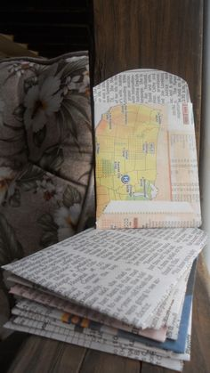 Seed Storage - Newspaper Pouches