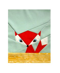 Fox quilt square - Paper piecing? Cocorico August - Best of British for Kylie | Flickr - Photo Sharing!