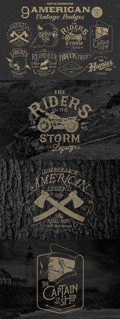 American Vintage Badges #design #logo Download: https://creativemarket.com/OpusNigrum/47778-American-Vintage-Badges-Part.3?u=nexion