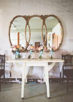 BEAUTIFUL wedding. Vintage.  peach. ivory. blue. wedding flowers