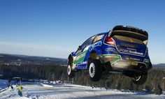Rally Sweden Ford Fiesta WRC Snow Jump