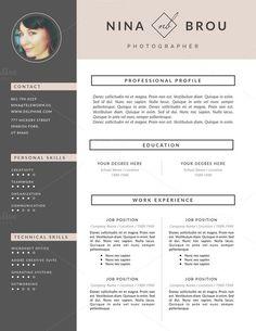 Feminine Resume Design | CV - Resumes - 4