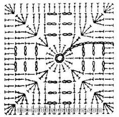 ABC Knitting Patterns - Square Motif Baby Blanket.