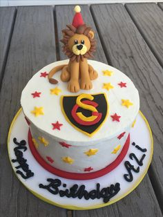 Lion cake birthday cake Galatasaray pastası Aslan Cimbom pastası