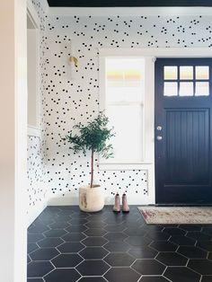 37 Trendy Home Wallpaper Design Entryway Vinyl Decor, Wall Decor, Room Decor, Entry Way Design, Entry Way Tile, Removable Wall Decals, Home Wallpaper, Interior Wallpaper, Trendy Home