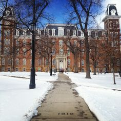 Old Main, University of Arkansas, Fayetteville, Arkansas.