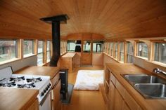 cool conversion bus interiors | Converted School Bus (creative commons)