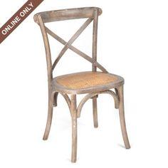 Gray Wash Bentwood Chair #coastalliving
