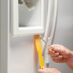 Fix a refrigerator water dispenser quickly and easily with standard hand tools and a new switch. You can do it in an hour.