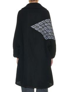 Kogin-embroidered wool-blend coat   Y's By Yohji Yamamoto   MATCHESFASHION.COM US
