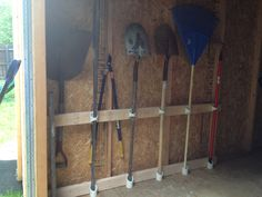 Garage shelf tool rack garden tools hang on wall shovel snow garden tool organization with pvc pipe workwithnaturefo