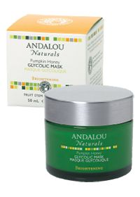 Pumpkin Honey Glycolic Mask by Andalou Naturals - Smells like pumpkin pie, some tingling/burning upon application but fades after a minute or so, effective chemical exfoliant, my skin feels very soft after I use it, it helps slough off the dead skin and flakes I get from retin-a. I hear it's a dupe for the Peter Thomas Roth version but cannot confirm.