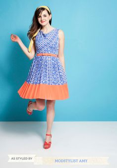 Wallpaper Party Dress. This item was picked by you in our Be the Buyer Program and will be sold exclusively online at ModCloth! #blue #modcloth