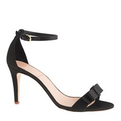 J.Crew - Satin bow high-heel sandals