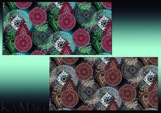 Mandalas indianas - Coloração por Ká Martins para Natan Tecidos