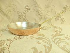 Pan Set, Farberware, French Vintage, Copper, Copper Cookware, Copper Pots, Copper Pans, Brass Handles, Copper Frying Pan