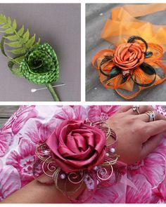 Flax Flowers and Romance - School Ball Season is in the Air! Flax Flowers, Diy Flowers, Fabric Flowers, Flower Diy, Flower Corsage, Flower Bouquets, Flax Weaving, Silhouette Cameo Tutorials, Maori Art