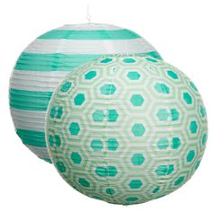 Add a contemporary touch to al fresco living with graphically patterned lanterns. Z Gallerie Portofino & Perspective Paper Lanterns, $6.95