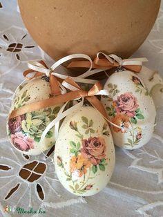 Húsvéti tojás., Húsvéti apróságok, Decoupage, szalvétatechnika, Meska