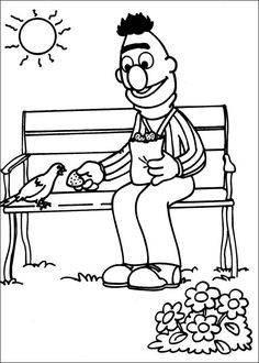 Sesame Street Coloring Pages 24
