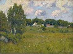 """Colebrook Meadows,"" Charles Warren Eaton, 1890s, oil on canvas, 12 1/8 x 16"", Spanierman Gallery."
