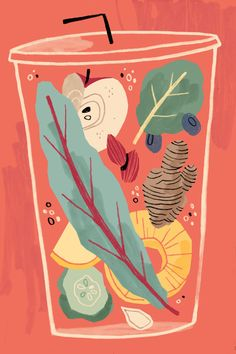 Power Smoothie Self-directed Illustration
