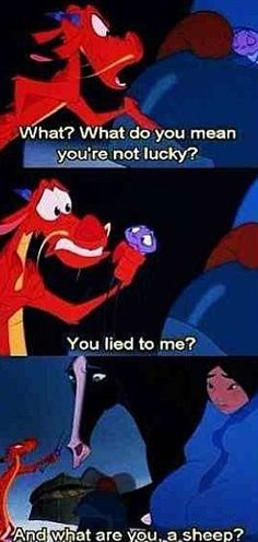 In case you couldn't tell I think Mushu is the best Disney cartoon character ever