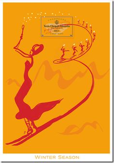 By Florence Deyga & collaboration with Veuve Clicquot champagne, 2 0 0 7, Winter Season.
