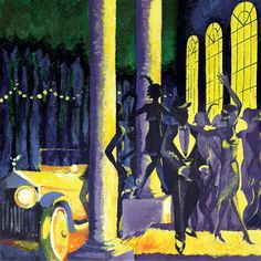 The History of Jazz - The Early Jazz Era (Vol. I) Made by Anthony. Copyrights go to the original artists. This playlist is made for entertainment purpose only! Art Deco Illustration, Illustrations, Drawing Faces, Art Drawings, Wilton Music Hall, The Great Gatsby Movie, Car Painting, Art Party, Artsy Fartsy