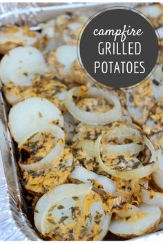 If you are grilling out you will love this Campfire Potatoes on Grill recipe. It has the smoky flavor of delicious campfire roasted potatoes! - Campfire Potatoes on Grill Recipe - Smoky and Delicious Campfire Potatoes, Campfire Grill, Potatoes On The Grill, Roasted Potatoes On Grill, Campfire Recipes, Healthy Recipes, Gourmet Recipes, Cooking Recipes, Recipes Dinner