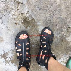 2017 Venta Caliente Zapatos de Los Hombres Sandalias Casuales Chaussure Homme Zip Botines Punta Abierta Hombres Zapatos Calados Alpargatas Pisos Sólidos zapatos