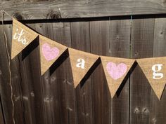 It's a Girl Baby burlap banner announcement baby shower decorations welcome baby photo prop on Etsy, $18.00