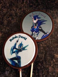 Chupetas de chocolate transformers personalizado cumpleaños cotillón niñas para pedidos por chocolograhy.ve@gmail.com