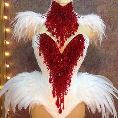 The part of the new Bleeding Swan dress – Dance Costumes Masquerade Costumes, Burlesque Costumes, Carnival Costumes, Dance Costumes, Burlesque Outfit, Showgirl Costume, Corset Costumes, Vampire Wedding, Gothic Wedding